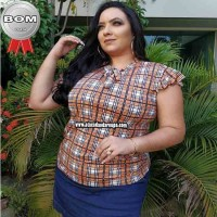 Blusas Plus Size Summer Plex