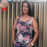 Regata Feminina Plus Size Estampado