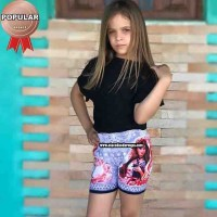 Short Tactel Personagens Feminino